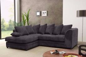 CHEAPEST PRICE EVER= BRAND NEW DYLAN JUMBO CORD SOFA IN DIFFERENT COLORS -- CORNER OR 3 AND 2 SEATER