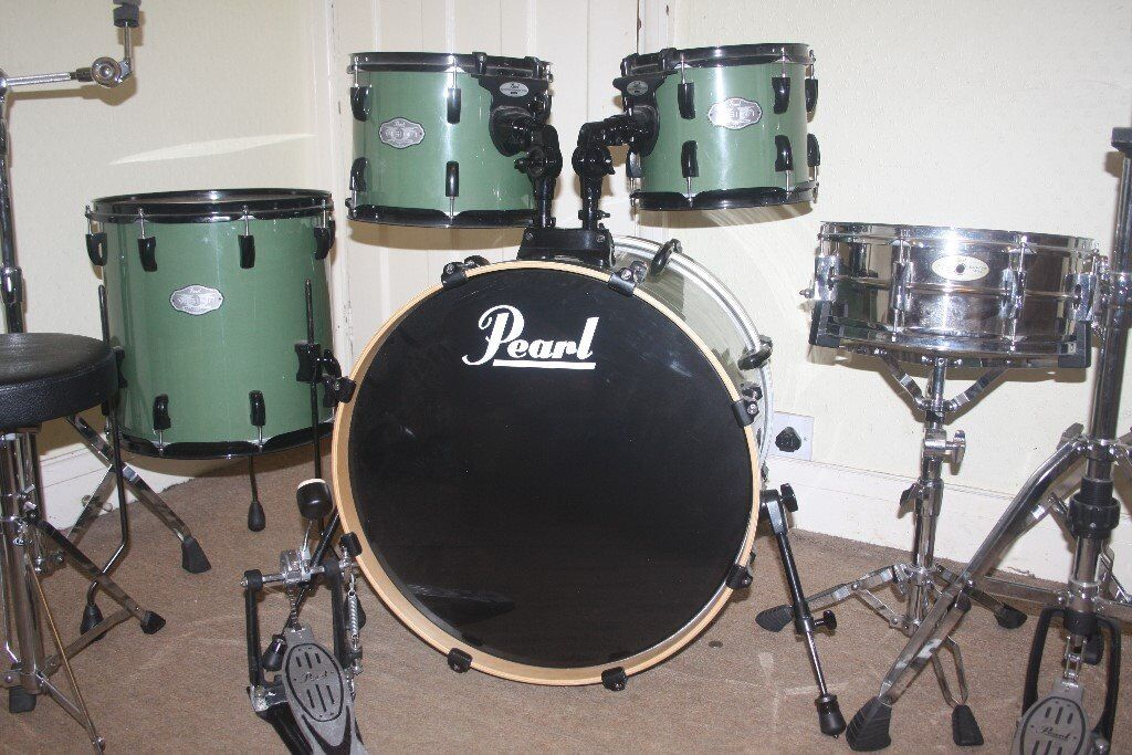 pearl vision vx series olive green 5 piece drum kit drums only in ealing london gumtree. Black Bedroom Furniture Sets. Home Design Ideas