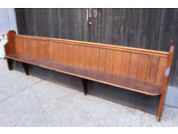 Old Vintage Church Pew, Chair, Bench