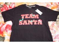 Christmas T Shirts Bundle lot Unisex NEW S/M size Black/White colour