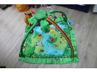 Fisher Price Jungle Gym Playmat with music, light and nature sounds that respond to baby's movement.