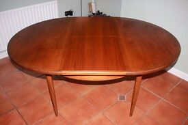 Retro G PLAN FRESCO TEAK EXTENDING DINING TABLE - Vintage, Mid-Century, Danish-Style