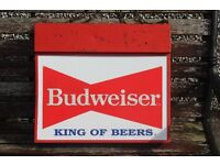 old budweiser king of beers light up sign