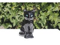 Large Vintage Sitting Black Cat Figurie Probably Sylvac Feline Figure