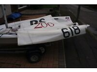 RS 200 Dinghy with Launching Trolley and Road Trailer