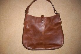 "LEATHER HOBO BAG - HOUSE OF FRASER ""LINEA"" - COST £120.00! EXCELLENT CONDITION"