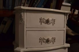 Two drawer chest for bedroom