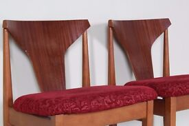2 X ELLIOTS OF NEWBURY MID CENTURY TEAK DINING CHAIRS - CAN COURIER