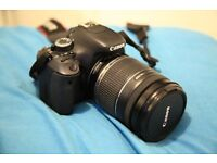 Canon 600D Camera and lens
