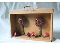 Jaipur Home hand crafted India decorative pair door clothes coat hooks hangers