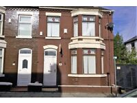 43 Clovelly Road, Anfield, Liverpool. 3 bed bay fronted end of terrace with GCH. DSS welcome.