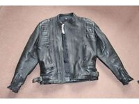 mens motorbike leather jacket