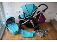 Oyster Max 2 single / double pram tandem *can post*