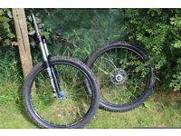 HOPE/MARAZOCCHI/shirmano jump bike forks and wheels