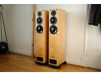 Pair of PMC OB1 Floor Standing Speakers Pine Light wood MINT Boxed OOO not TWENTY FB1+ EB1 FACT B&W