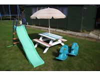 Picnic bench - wooden, child size