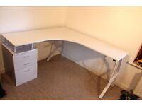 Corner Computer Desk (white)