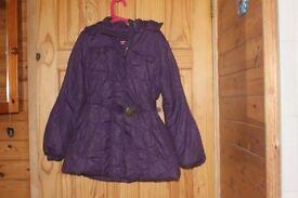 Girl's purple winter coat