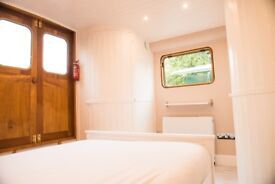 Self contained, modern houseboat