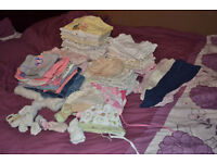 Bundle 0-3 months girls clothes