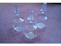 Three Glass Decanters