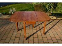 Stunning Edwardian Golden Oak Antique Drop Leaf Dining Table