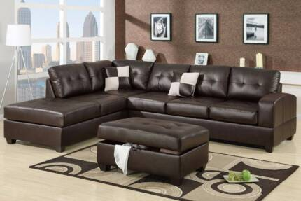 BLACK Brown WHITE Leather Lounge Sofa Available - NEW Adelaide CBD Adelaide City Preview