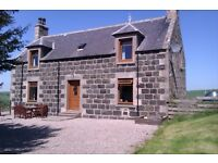 3 bed detached granite stone farm house in country area 4 miles from Huntly