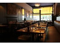 junior assistant manager / senior waiter wanted for Mustard W6 all day British Brasserie