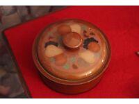 DENBY Coloroll lidded tureen Pears, oranges, grapes, nuts 22cm diameter