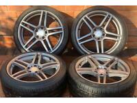 "Mercedes Benz C Class 18"" AMG Staggered Alloy Wheels 5x112 W203/W204"