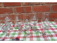 Set of six drinking wine glasses DOMECQ