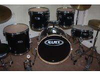 Mapex V Series Black 5 Piece Drum Kit - DRUMS ONLY