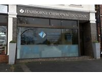 Caring receptionist required for busy Chiropractic Clinic in Harborne