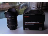 Sigma 17-50mm F2.8 CANON fit - Less than 1 year old