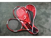 Set of tennis raquets