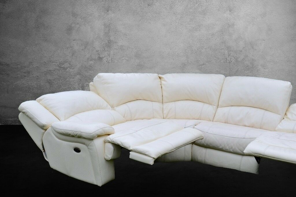 Swell Leather 3 Recliner Seat Corner Sofa For 6 People Good Condition In Barnsley South Yorkshire Gumtree Unemploymentrelief Wooden Chair Designs For Living Room Unemploymentrelieforg