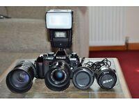 Nikon 501 4 lences +Hammerhead Flash Gun