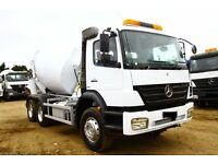 2007 MERCEDES AXOR 2633 6X4 CONCRETE MIXER TRUCK FOR SALE IN LONDON IRLEAND SCOTLAND AFRICA SCANIA