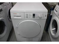 BOSCH WTW84360GB Condenser tumble dryer 7kg 65dB A-40% heat pump White