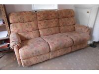 Sofa & armchair for sale - good condition