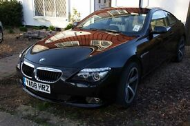 BMW 6 Series 2008 Black with Cream Leather