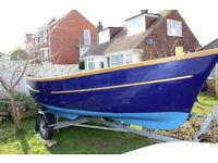 15ft Sea king open boat with trailer