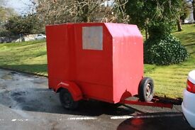 Box Trailer , currently set up for Go Karts, but can easily be modified for other uses.