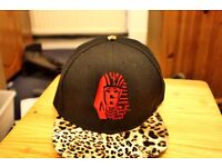 Leapord Skin Last Kings Snapback Hat Cap: Unisex (Drake Merchandise)