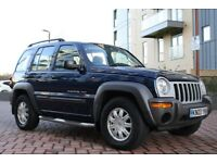 2003 Jeep Cherokee 2.8 SPORT CRD 5dr AUTO 161 BHP DIESEL AUTOMATIC 4X4 3M WARRANTY, PX WELCOME