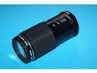 Pentax K mount Zoom Lens, SMC PENTAX-M 80 MM. tO 200 MM. f4.5.