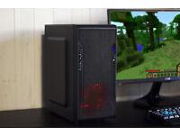 Minecraft Red Gaming PC Computer Intel Quad Core Nvidia GTX Graphics Win 10 Home