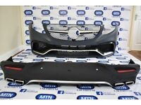 Mercedes Audi BMW Bodykits AMG C E ML S A Class C63 E63 Front Bumper Bonnet Side Skirts All In Stock
