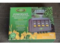 Blagdon Powersafe 4 way outlet switchbox (pond and garden electrical)